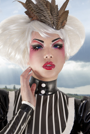 Model Amelia Arsenic used Sugarpill cosmetics to create this dramatically beautiful look, concept and photography by Mattaeus Ball