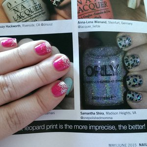 So proud and excited to make it into nail it magazine