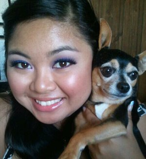 Me and my Doggy. Eyes- Inglot Purples