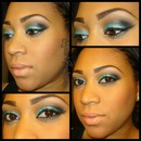Teal Eye look and frosted lip