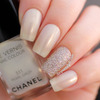 Chanel Pearl Drop Birthday Nails