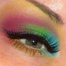 Parrot/Fruit Loops Inspired Makeup