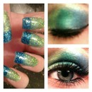 Ombre nails & eyes