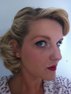 Make up and hair for Vintage Hen Do