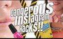 INSANELY STUPID INSTAGRAM MAKEUP HACKS YOU SHOULD NEVER TRY!!!!