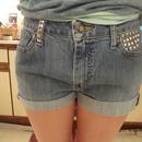 Studded my shorts !
