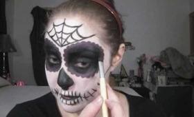 Dia de los muertos - Day of the Dead Sugar Skull Tutorial Part 2 - The Eyes Have It