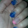 French tip with glitter