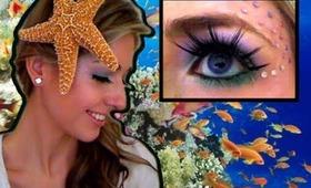 Girlie Mermaid: Halloween Hair & Makeup Tutorial (with Drugstore Products!)