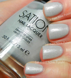 A beautiful, soft Dove Grey packed full of etherial Silvery shimmer. Three thin coats.