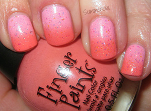 OPI Pink Friday, Finger Paints Gimme Some Sugar and Sinful Colors Pinky Glitter
