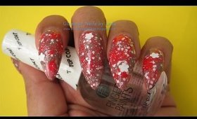 GNbL - Red and Gray dry marbling