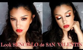 Maquillaje FACIL para SAN VALENTIN / Easy makeup Valentines Day | auroramakeup