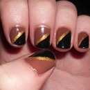 Browngoldblack