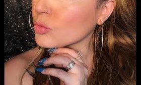 Its a blue green yellow eyeshadow look.