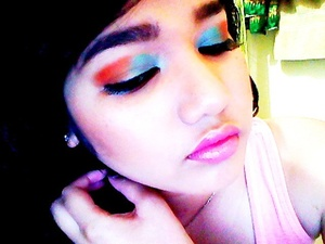 Turquoise and Orange (Summer inspired look)