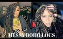 How todo Messy Boho Goddess Passion Locs (Very Detailed) Easy Tutorial