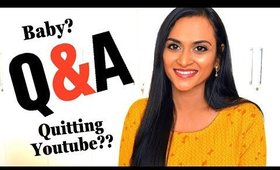 Q&A - Am I Pregnant? Wedding Pic, Quitting Youtube , Depression & More | CheezzMakeup