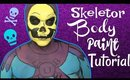 Masters of the Universe: Skeletor Body Paint Cosplay Tutorial (NoBlandMakeup)