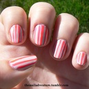 Nude and Neon Stripes