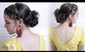 HOMECOMING HAIRSTYLE - BRAIDED UPDO!