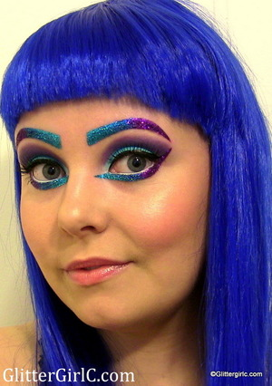 VIDEO TUTORIAL: http://glittergirlc.com/2013/07/01/katy-perry-inspired-makeup-tutorial-d/