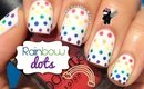 Rainbow Dots Nail Art by The Crafty Ninja