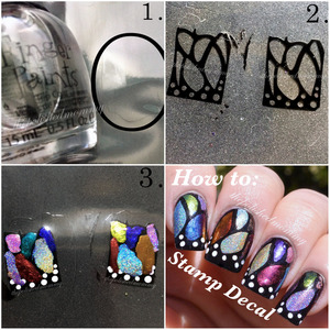 Here is a super quick tutorial on how I created the Magical Butterfly mani from yesterday. To see detailed instructions visit my blog: http://www.thepolishedmommy.com/2014/04/magical-butterfly-tutorial.html