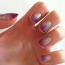 silver and purple shimmer