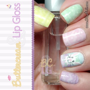 It's almost Easter!  This mani features a lil bunny and pastel Easter egg designs on the rest of the nails. Details can be found on the blog: http://www.buttercreamandlipgloss.com/2014/04/notd-easter-bunny-nails.html