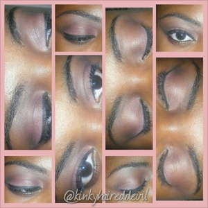 Cute pink neutral look using my 88 warm palette by coastal scents.