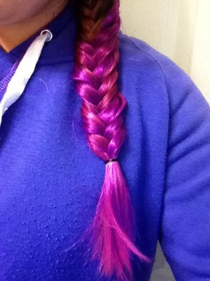 Just dyed it, it used to be pink