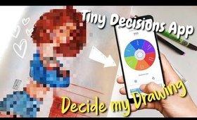 THIS APP decide my Drawing!💕🥺 / questa app decide cosa devo disegnare! 😨✍🏼💜