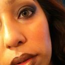 Dark gold lips