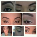 green  and soft brown