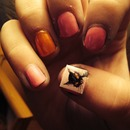 Halloween Kitty Nails