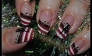 Wearable Candy Cane Nail Art Tut +Collab with BeenaBop