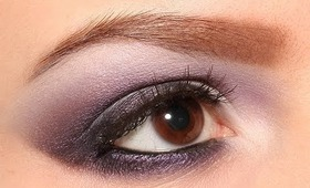 Smokey Eyes with Color — White & Violet