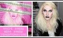 White Queen Drag Queen Makeup Transformation Alice in Wonderland