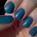 Blue micro-glitter