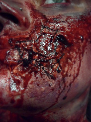 EXTREME SPECIAL EFFECTS MAKEUP Commando Zombie - Stitches