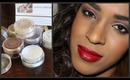 Madison street Beauty eye shadow Pigments Review   Bold eye & bold berry red lips makeup tutorial