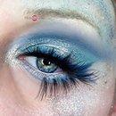 Ice Queen & Fire Queen Halloween Glittery Makeup