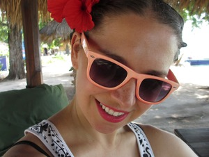 Lazy beach look for a hot day in Bali! This lipstick is awesome. Once you put it on, it doesn't budge!