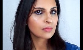 Blue Eyeliner Easy Spring Makeup Tutorial with a Pop of Colour   Manisha Moments