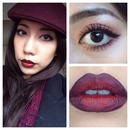 Ombré burgundy lip