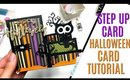 Halloween Step Card Tutorial using Sizzix Step Up Card Die for the Base