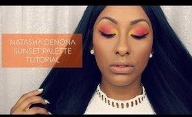 NATASHA DENONA Sunset Palette | Red & Yellow Eye Look Tutorial | Mo Makeup Mo Beauty