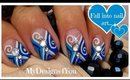 Winter Nail Art Design | Blue Abstract Nails How To ♥