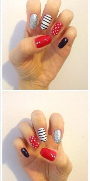 Free hand nail designs